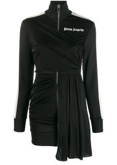 Palm Angels draped track-style dress