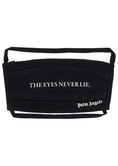 Palm Angels Eyes Never Lie Cotton Logo Face Mask