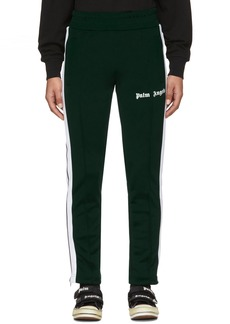 Palm Angels Green & White Slim Lounge Pants