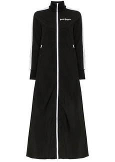 Palm Angels high neck zip up maxi length track jacket