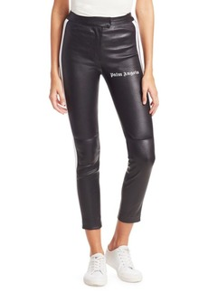 Palm Angels Leather Track Biker Pants