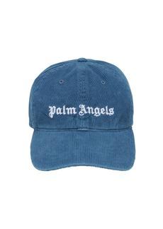Palm Angels Logo Cotton Corduroy Cap