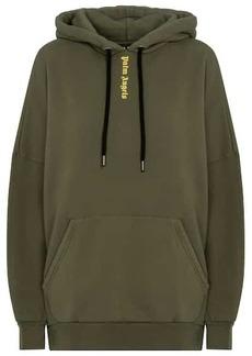 Palm Angels Logo cotton jersey hoodie