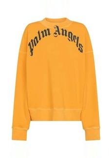 Palm Angels Logo cotton jersey sweatshirt