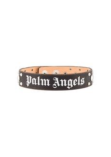 Palm Angels logo print choker necklace