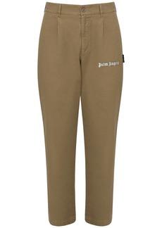 Palm Angels Logo Print Classic Cotton Pants