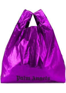 Palm Angels logo-print shopping bag