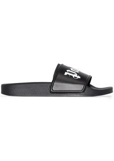 Palm Angels logo-print slide sandals