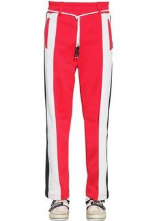 Palm Angels Logo Print Tech Jersey Track Pants