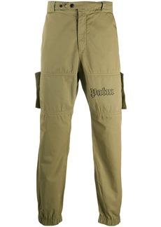 Palm Angels logo-print utility trousers