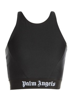 Palm Angels Logo Tape Crop Top