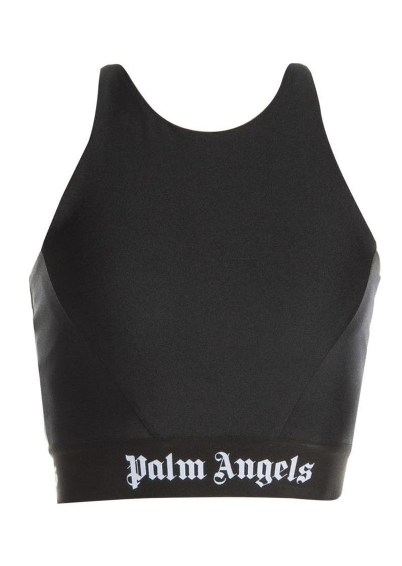 Palm Angels Logo Tape Crop Top