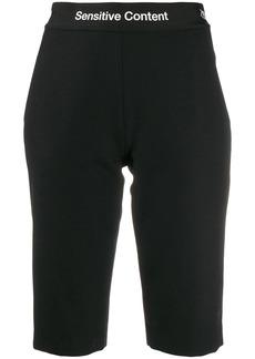 Palm Angels logo tape waistband shorts