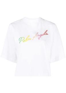 Palm Angels Miami logo cropped T-shirt