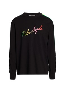 Palm Angels Miami Logo Multicolor Long-Sleeve Top