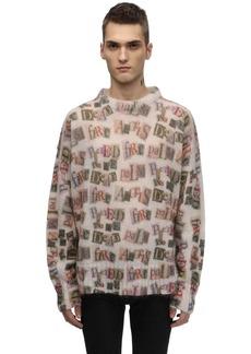 Palm Angels Mohair Blend Knit Sweater