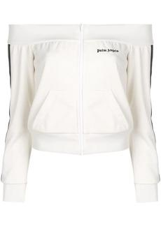 Palm Angels off-shoulder track jacket