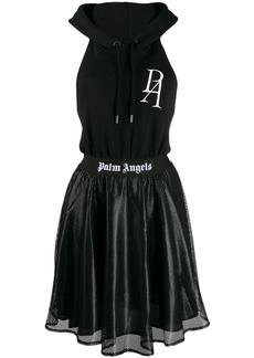 Palm Angels open back hoodie dress