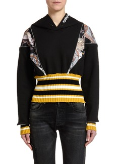 Palm Angels Open-Shoulder Pullover Hoodie with Zippers
