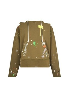 Palm Angels Painted Raw Hoody
