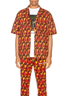 Palm Angels Burning Bowling Shirt