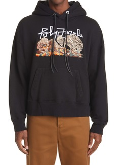 Palm Angels Desert Skull Embroidered Hoodie