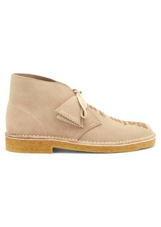 Palm Angels Logo-debossed suede desert boots