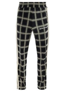 Palm Angels Logo-print checked-velour track pants
