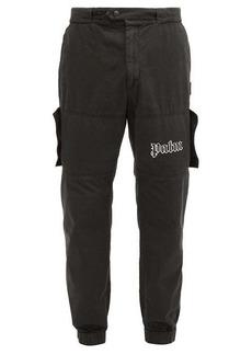 Palm Angels Logo-print denim cargo trousers