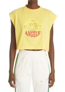 Palm Angels Records Crop Graphic Muscle Tee