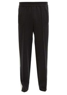 Palm Angels Side-stripe cashmere-blend track pants