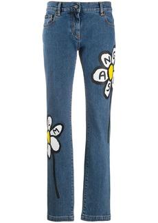Palm Angels Palm Daisy print jeans