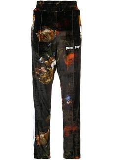 Palm Angels printed velvet track pants