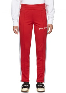 Palm Angels Red & White Slim Lounge Pants
