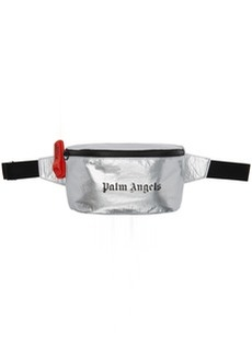Palm Angels Silver Logo Fanny Pack