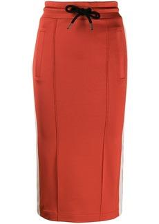Palm Angels stripe detail midi skirt