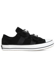Palm Angels Suede Sneakers W/ Vulcanized Rubber