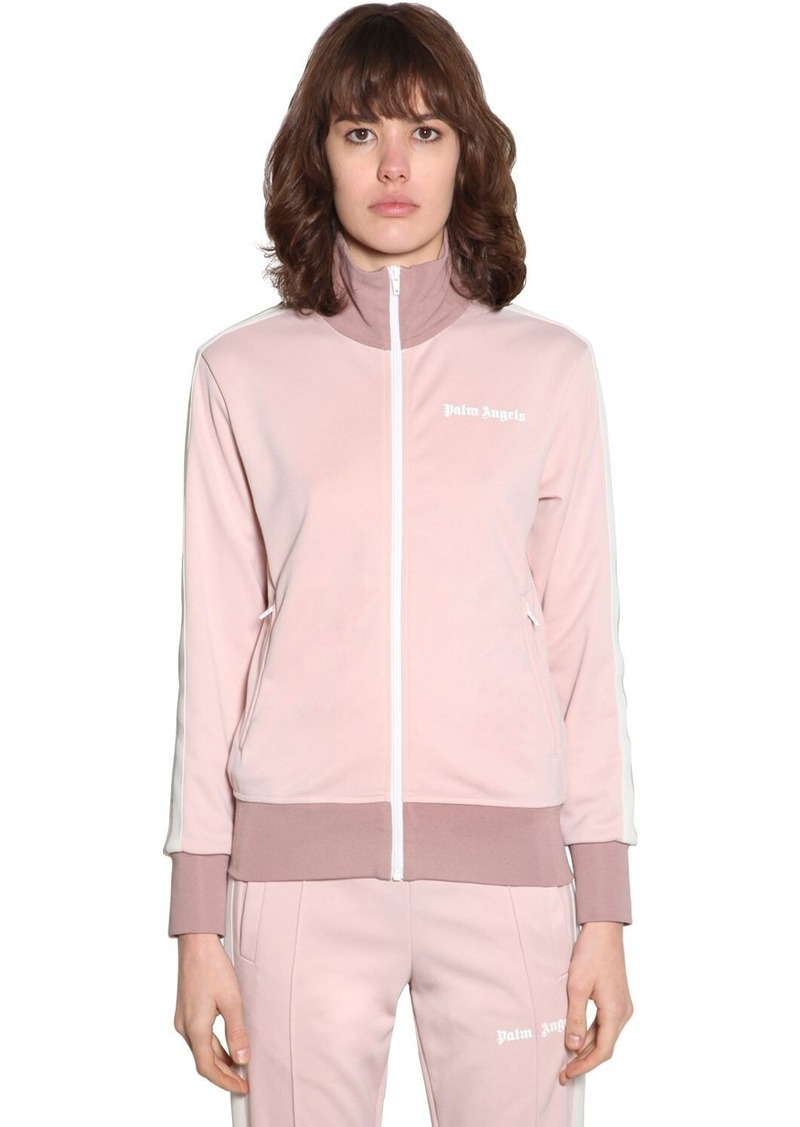 Palm Angels Tech Jersey Zip-up Sweatshirt