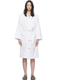 Palm Angels White Logo Bath Robe