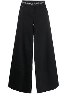 Palm Angels wide leg logo waistband jeans