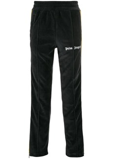 Palm Angels zip-detailed striped track pants