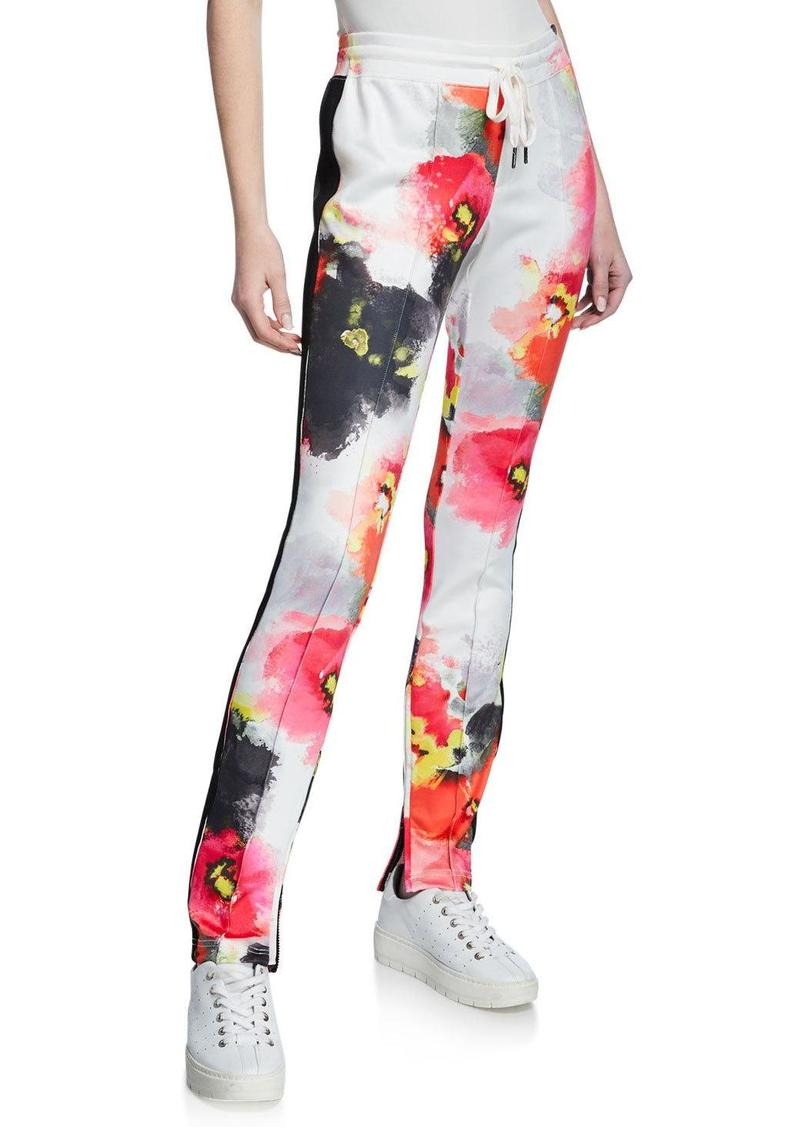 Pam & Gela Abstract-Print Cigarette Track Pants