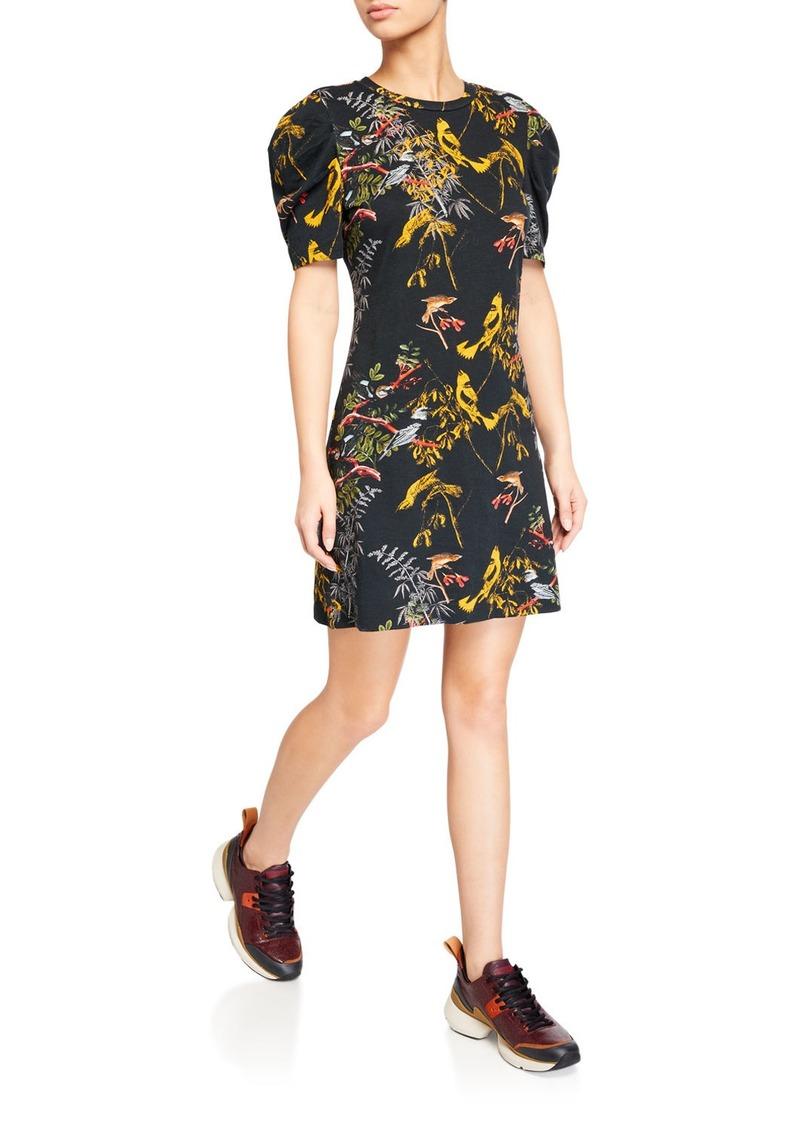 Pam & Gela Blackbird Puff-Sleeve Tee Dress