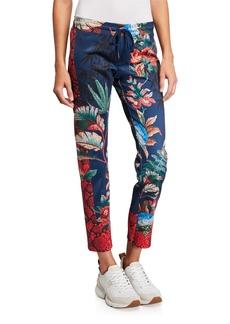 Pam & Gela Bye Birdy Cropped Track Pants