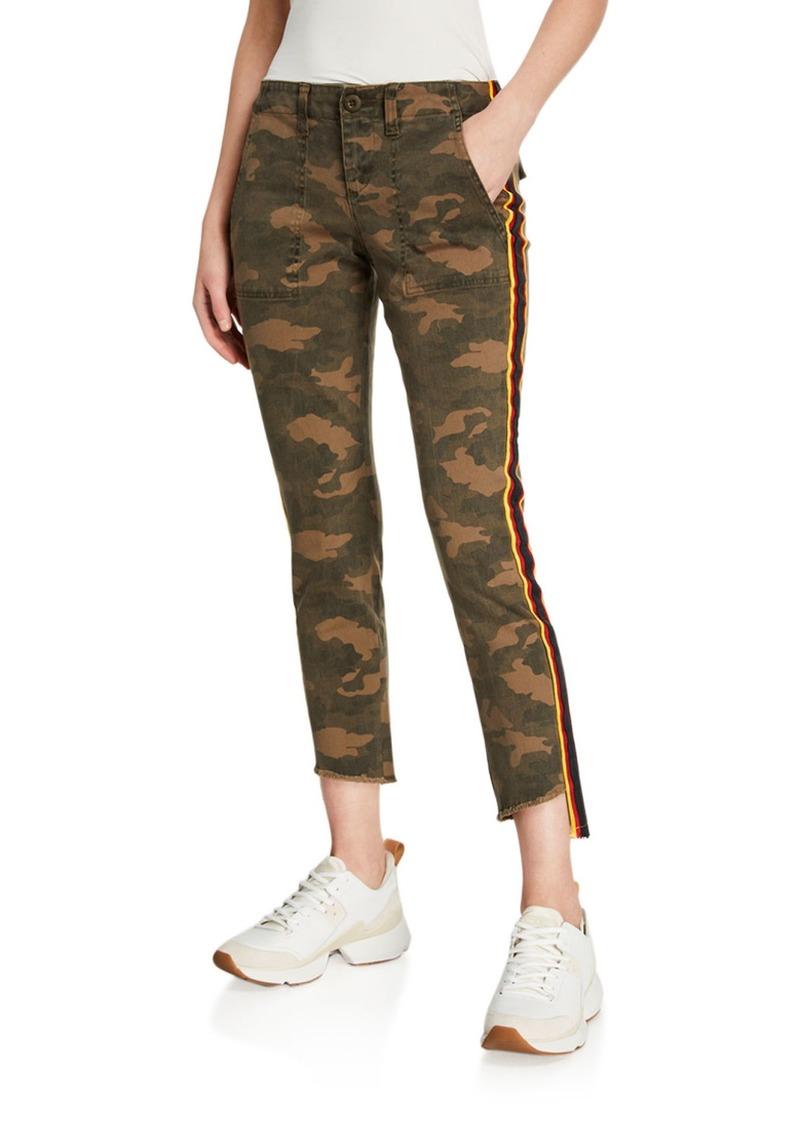 Pam & Gela Camo Side Stripe Pants w/ Lace-Up Back Detail