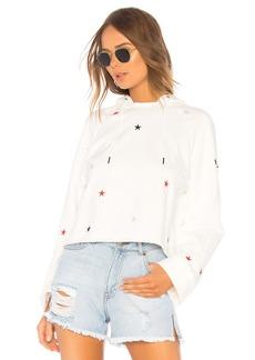 Pam & Gela Crop Hoodie Sweatshirt With Stars