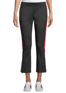 Pam & Gela Cropped Flare-Leg Track Pants with Racer Stripes