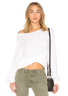 Pam & Gela Crossover Front Crop Sweatshirt