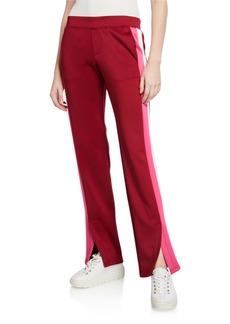 Pam & Gela Double-Stripe Scuba Track Pants
