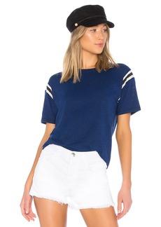 Pam & Gela Football Stripe Short Sleeve Tee